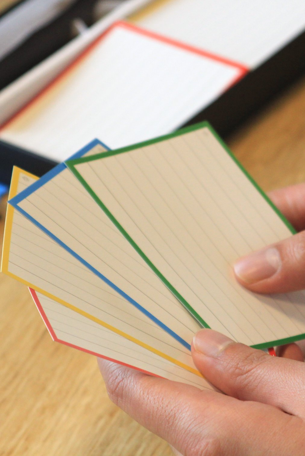Presenting with flashcards
