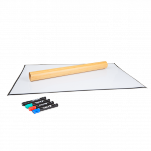 Bambook Stick-on sheets are rollable whiteboard sheets that can me stuck on windows