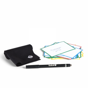 Erasable Flashcards for studying, brainstorming or presentations.