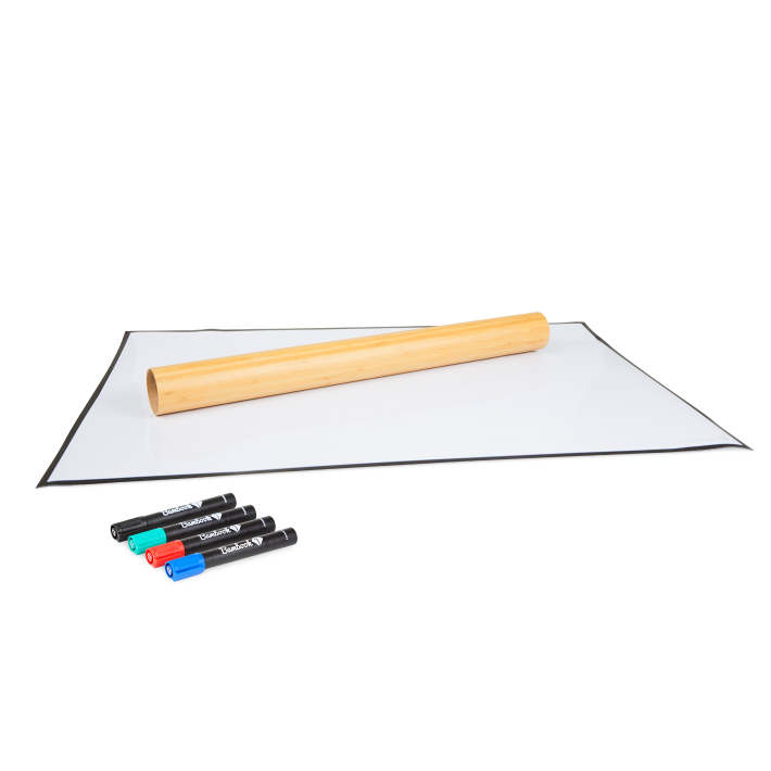 Stick-on sheet rolled out
